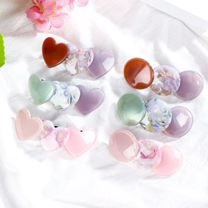 1Pc Elegant Student Spring Sheet Holder Baby Girl Round Hair Clips Kids Hair Accessories Girl Love Heart Clip Accessories