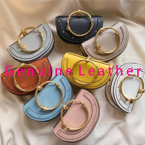 Wholesale shoulder bracelet resale online - Retro ring bag Nile bracelet mini petite shape fashion ladies handbag classic metal ring shoulder bag With box