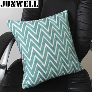 Junwell New Arrival Coon Canvas Cushion Embroidery Pillow Sofa Back Cushion Coussin Cojines Decorative 45x45cm Square