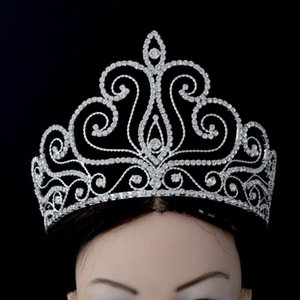 Wholesale Fashion Rhinestone Tiaras Pageant Crowns Full Round Hairwear Jewelry Hair Accessories Prom For Beauty Women Girl Mo197