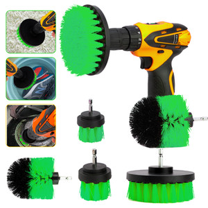 Wholesale 3Pcs Set Electric Drill Brush Kit Plastic Round Cleaning Brush For Carpet Glass Car Tires Nylon Brushes Power Scrubber Drill