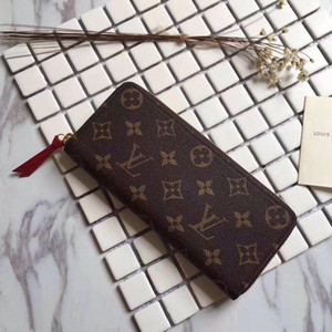 Wholesale with box top quality luxury wallet coin purse mens designer long wallets wallet louis vuitton women leather zippy wallet
