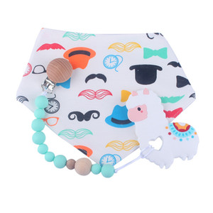 Silicone Dummy Pacifier Clips Baby Pacifier Clip Anti-drop Infant Chain Wood Beads Nipple Holder Nursing Teething Gifts