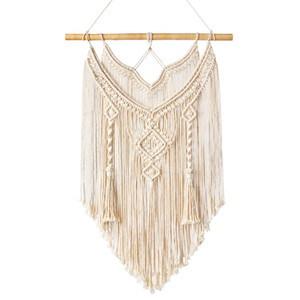 Macrame Wall Hanging Tapestry Wall Decor Boho Chic Bohemian Woven Home Decoration on Sale