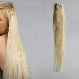 100g Tape In Human Hair Extensions Straight 1b# 2# 4# 6# 613# blonde Tape In Extensions 40pcs Remy Tape In Hair Extensions