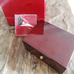 Wholesale Luxury Top Quality PP Watch Original Box Papers Card Wood Gift Boxes Red Bag Box For PP Nautilus Aquanaut Watches