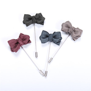 suit skirt Mdiger Brand Handmade Bowtie Shape Lapel Pins Classic Brooch Pin Corsage Boutonniere Lapel Pins Men's Suits Brooches 3 PCS LOT