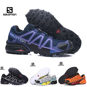 Wholesale Salomon Speed Cross 4 CS Mens Women Hiking Shoes SpeedCross 4s Black Purple Orange Blue Outdoor ASports Sneakers 36-46