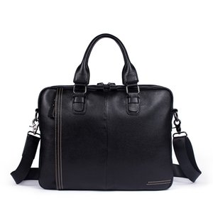 Wholesale 2018 Business Briefcase Laptop Bag Cow Leather Multifunction Waterproof Handbags Business Portfolios Man Shoulder Travel Bags
