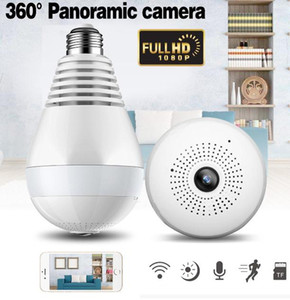 wholesale HD 1080P 360 Degree Panoramic Light Bulb Security Camera, Wireless Monitor Camera with Night vision, home guard motion detection