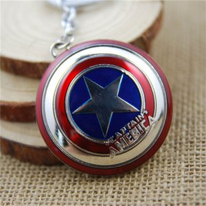 17 styles Avengers Captain America Keychain Superhero Star Shield Pendant Keyring Car Key Chain Accessories Batman Marvel Key Chains newv001