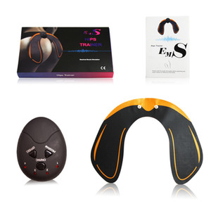Wholesale EMS Hip Trainer Muscle Stimulator ABS Buttock Tighter Lifter Massager Electric Vibration Muscle Stimulator Relaxtion Machine Box Package