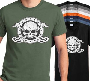 Tshirt Homme 2019 New Casual Short-Sleeved Men Metal Detector Skull T Shirt -Beach Coin Finder summer style Tee shirt