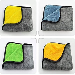 Wholesale 45 CM Super Thick Premium Microfiber Towel Microfiber Polishing Waxing Cloth for Car GMS Car Drying Cleaning Detailing Towels