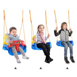 ingrosso altalene per i bambini-Safe Kids swing bambino Low PE plastica posteriore a battente carrello all aperto Backyard Fun Swing Chair ZZA2362 Ocean Shipping