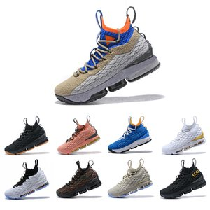 Luxury High Quality Newest Ashes Ghost Lebron 15 Basketball Shoes Arrival Sneakers 15s Mens Casual 15 KingJames sports shoes LBJ EUR 40-46