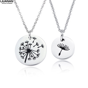 Wholesale mother daughter pendants necklaces resale online - Mother Daughter Necklace Set Mommy Me Jewelry Dandelion Wish Necklaces Stainless Steel Mom Daughter Pendant Mother s Day Gift