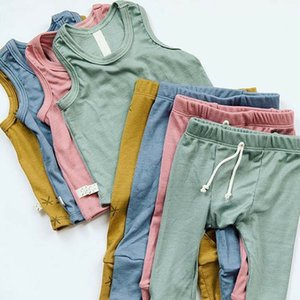 Wholesale 2019 Cotton Newborn Infant Kid Baby Girl Top Romper Bodysuit Pants Outfit Clothes Set