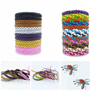 Leather Mosquito Repellent Bracelet Anti-mosquito Wristband Anti-mosquito Bracelet Pest Control Cartoon Accessories CCA11532 600pcs