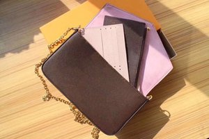 Wholesale With Gift Box 29 Styles 3-Set POCHETTE FÉLICIE Series Designer Chain Bags M62467 M64065 M61267 M62982 M62145 N60235