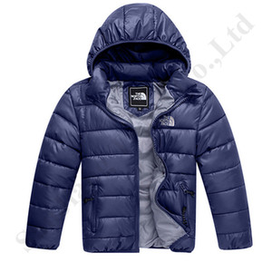 Juniors Down Jacket NF Hooded Warm Padded Coats Kids Boy Girls The North Thin Lightweight Winter Face Outwear Windbreaker Clothing C120401
