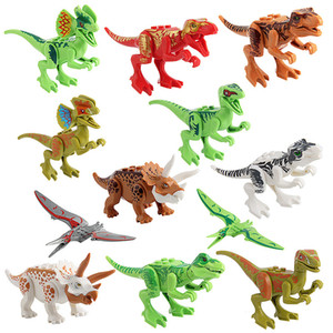 Wholesale Block Puzzle Jurassic Dinosaur ABS Minifig Collectible Model Retail action Figures Surprise Doll DIY Game Blocks Minifig