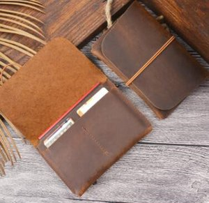 Crazy Horse Leather Long Wallets Genuine Leather Bifold Men Wallet Vintage Male Purse carteira feminina on Sale
