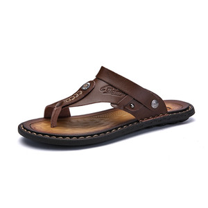 Wholesale DUDELI Hot Sale Men S Sandals Genuine Leather Men Summer Shoes Leisure Slippers Flip Flops Men Comfortable Footwear Soft Sandal