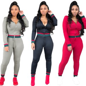 Wholesale Women Tracksuits Top And Pant Two Piece Sets Sportswear Autumn Long Sleeve Sweatshirt Pant Sweat Female Suits Outfits Clothing