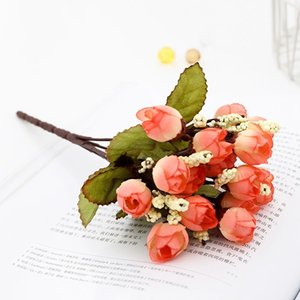 Wholesale fabic for sale - Group buy Chinese Hand craft Fabic Artificial flower silk mini Rose Valentine s Day as gift fake flower decoration home wedding table Party decoration