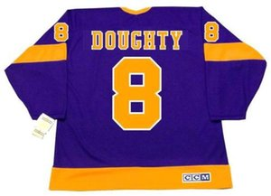 DREW DOUGHTY Los Angeles Kings 1970 s CCM Vintage Away Hockey Jersey All Stitched Top-quality Any Name Any Number Any Size Goalie-Cut on Sale