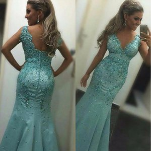 Wholesale free pictures nude women for sale - Group buy Mermaid Prom Dresses Graduation Dresses Vestidos De Fiesta Elegantes Beading Formal Women Evening Gowns Custom Made