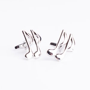 Wholesale New high quality brass musical instruments sax music symbol french shirt cufflinks