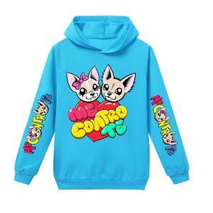 Me Contro te Designer Hoodies for Teen Boy Girl Hooded Pullovers Sky Blue Purple Rose Pink Novelty Kids Sweatshirts Clothing