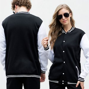 Wholesale teen girls clothes resale online - Men Women Streetwear Sweatshirt Button Up Baseball Jacket Long Sleeve Pocket Tracksuit Teen Boy Girl Clothes Clothing Spring