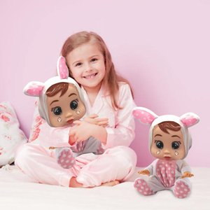 Wholesale Silicone Baby Doll Reborn inch inch Cry Baby Doll Toys Magic Tears With Music Alive Lifelike Kids Birthday Gifts