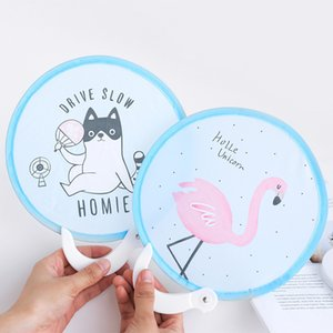 2273 Lovely Circle Mini Fold Circular Small Sensu Cloth Cover Silk Tourism Japanese A Gentle Wind Folding Fan on Sale