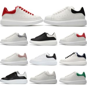 2019 Mens Designer shoes white leather 3M reflective casual for girl women black gold red fashion comfortable flat sports sneaker size 35-44