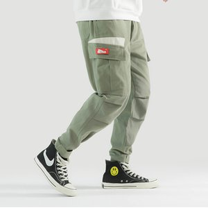 Wholesale Casual Pants Men Spring Harem Joggers Pockets New Fashion Streetwear Draped Leg Cargo Trousers Male Hip Hop Jogger