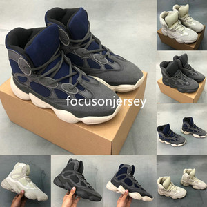 Wholesale 500 Slate Bone White Stone High Top Kanye West running Shoes Vintage Triple Black Mens Trainers Dad Shoes Luxury Designer boots Trainer