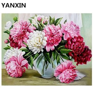 YANXIN DIY Frame Painting By Numbers Oil Paint Wall Art Pictures Decor For Home Decoration E781