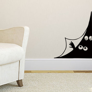 Wholesale room corner decoration resale online - Funny Peeping eyes Wall Sticker Door Wall corner Home Decor living room Background decoration Mural art Decals Creative stickers
