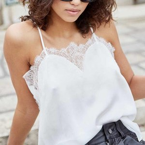 Wholesale Sexy Camisole Sexy Women Camisoles Lace Summer Strap Lace Tank Top Vest Solid Top