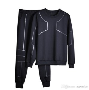 Wholesale Factory Outlet Thin Sweater Mens Turtleneck Casual Sports Set