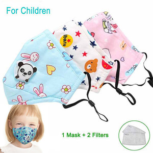 Wholesale pink mask for girls resale online - Kids Panda Cotton Mask with Filters and PM2 Respirator Cute Children Anti dust Washable Bear Printed Outdoor Party Masks for Boys Girls