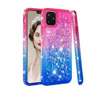 For iPhone 11 pro max Case Luxury Quicksand Liquid Case Bling Sequin Glitter Diamond Hard Back Cove