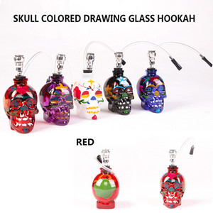 In stock skull bongs recycler oil rigs Glass bong water pipes bongs glass smoking hookah ash catcher quick seller 20pcs