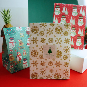 2019 New hot sale Christmas Candy Gift Bags Merry Christmas Guests Packaging Boxes Christmas Party Gift Packing