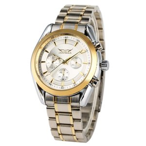 Wholesale Exquiste Automatic Mechanical Watches Practical Luminous Hands Function Watch for Men Unique Inter golden Stainless Steel Band Wristwatch