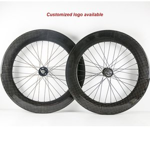 700C Clincher Carbon Fixed Gear Wheelset 88mm Depth Carbon Fiber Road Bike 23mm Width Bicycle Carbon Wheelset
